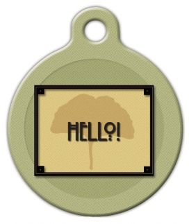 Craftsman Style Hello Pet ID Tag