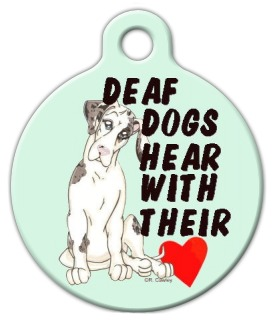 Deaf Dog Pet ID Tag