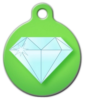 Bling Diamond Tag