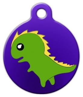 Dinosaur Pet ID Tag