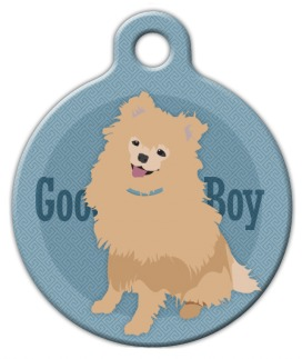 Good Boy Pomeranian Dog ID Tag