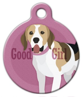 Good Girl Beagle Dog ID Tag