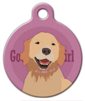 Good Girl Golden Retriever Dog ID Tag