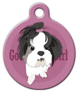 Good Girl Shih Tzu Dog ID Tag