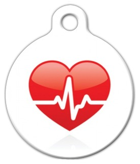 Heart Beat Medical Dog Tag