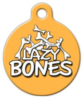 Lazy Bones Dog Tag