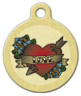 Love Tatoo Pet ID Tag