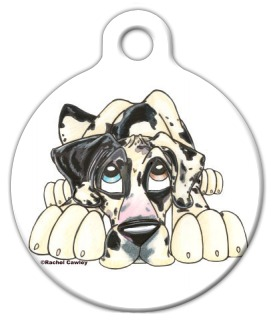 Great Dane Illustrated Dog Identity Tag
