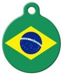image: Brazil Flag Dog ID Tag