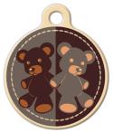 image: Teddy Bear Lupine Pattern Pet Collar Tag