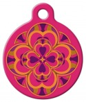 image: Heart 2 Heart Lupine Pattern Pet Name Tag