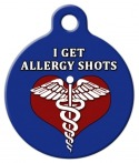 Allergy Shots Medical ID Tag