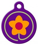 image: Spring Fling Lupine Pattern Dog Identity Tag