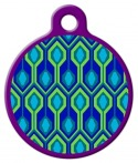 image: Rain Song Lupine Pattern Custom Dog Tag
