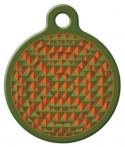 Copper Canyon Lupine Pattern Dog ID Tag