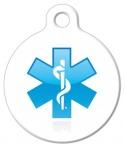 Caduceus Medical ID Dog Tag