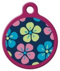 image: Flower Power Lupine Pattern Dog Identity Tag