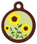 image: Suzie Q Lupine Pattern Pet Collar Tag