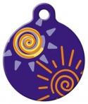 image: Sunny Days Lupine Pattern Pet ID Tag