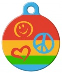 image: Peace Pup Lupine Pattern Dog Tag for Dogs