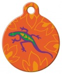image: Go Go Gecko Lupine Pattern Pet Collar Tag