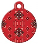 image: Wild West Lupine Pattern Dog ID Tag