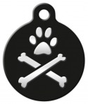 image: Bling Bonz Lupine Pattern Dog Tag for Dogs