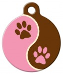 image: Tickled Pink Lupine Pattern Dog ID Tag