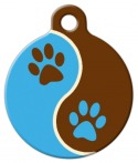image: Muddy Paws Lupine Pattern Dog Collar Tag