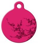 image: Plum Blossom Lupine Pattern Pet ID Tag