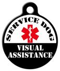 Service Dog - Visual Assistance Dog Tag
