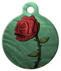 image: Single Rose Custom Dog Tag