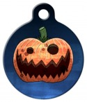 image: Evil Pumpkin Custom Pet Tag