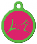 image: Club by Lupine - Bermuda Pink Pet ID Tag
