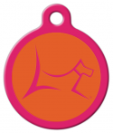 image: Club by Lupine - Sunset Orange Dog or Cat Tag