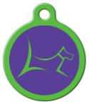 Club by Lupine - Hampton Purple Custom ID Tag