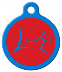 image: Club by Lupine - Derby Red Pet Identity Tag