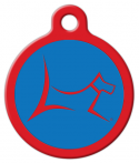 image: Club by Lupine - Newport Blue Dog or Cat ID Tag