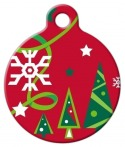 image: Christmas Cheer Lupine Pattern Pet ID Tag