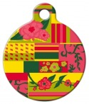image: Flower Patch Lupine Pattern Dog ID Tag