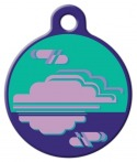 image: Purple Haze Lupine Pattern Pet Identity Tag