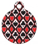 image: Hold 'Em Lupine Pattern Pet ID Tag