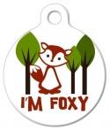 image: I'm FOXY Pet ID Tag