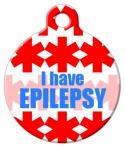 I Have Epilepsy Pet ID Tag
