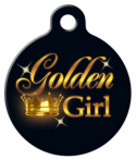 image: Golden Girl Senior Pet Custom ID Tag