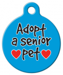 image: Adopt A Senior Pet ID Tag