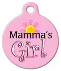 image: Mama's Girl Pet ID Tag