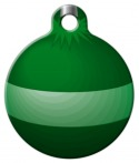 image: Green Ornament Dog ID Tag