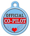 Official Co-Pilot Dog Tag for Dogs