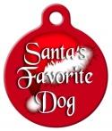 image: Santa's Favorite Dog ID Tag